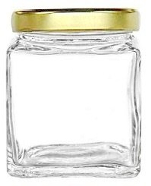 Cube stackable glass jars 8 oz