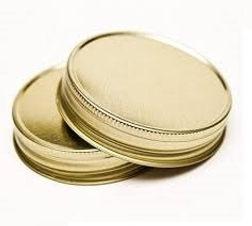 Gold Metal Mason Jar Lid, Cap 70/450