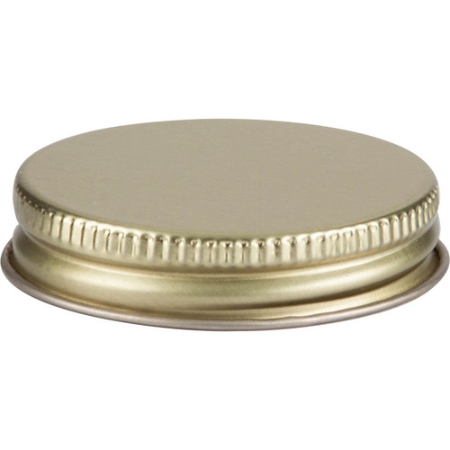 48/400 Gold Continuous Metal Cap with Plastisol Liner