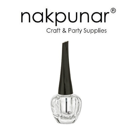 Nakpunar spherical nail polish bottle with brush and mixing ball