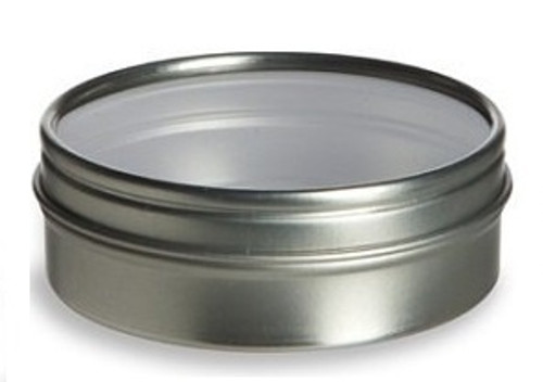 2 oz Clear Top Tin- Round (Style 2)