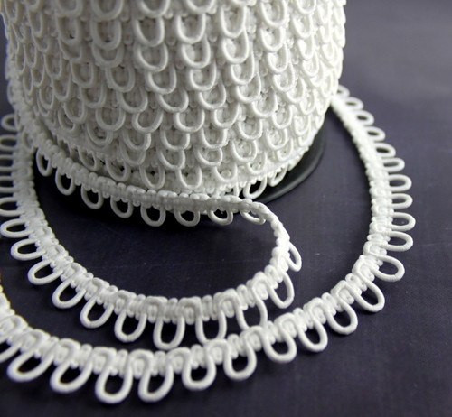 White Bridal Button Loops