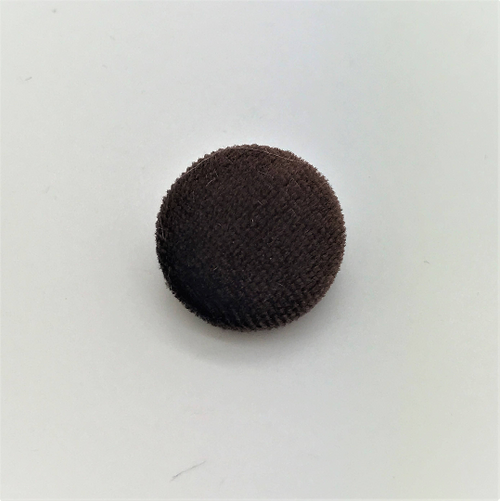 "Lot of 10, 5/8"" (15 mm)  Brown Velvet Button"