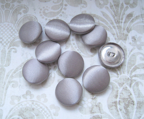 "10 pcs, Gray Satin Buttons - Choose from 7 Different Size from 1/2"" to 2"""
