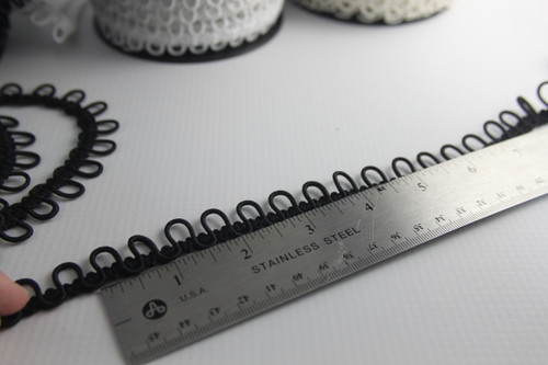 Ivory bridal button loops for your big day.