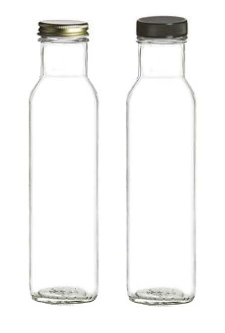 8 oz Wide Mouth Glass Bottle - Square bottom