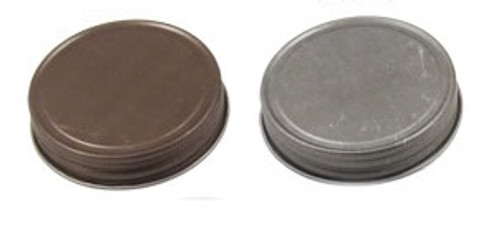 70/450 Antique Mason Jar Lid - Pewter, Bronze - Unlined- Regular mouth