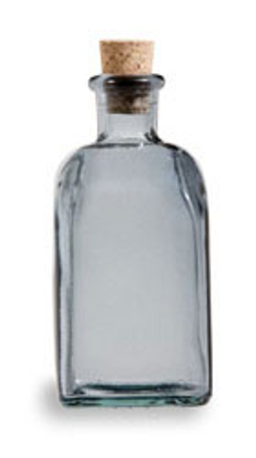 8 oz Gray Recycled Boston Glass Bottle with Cork Stopper