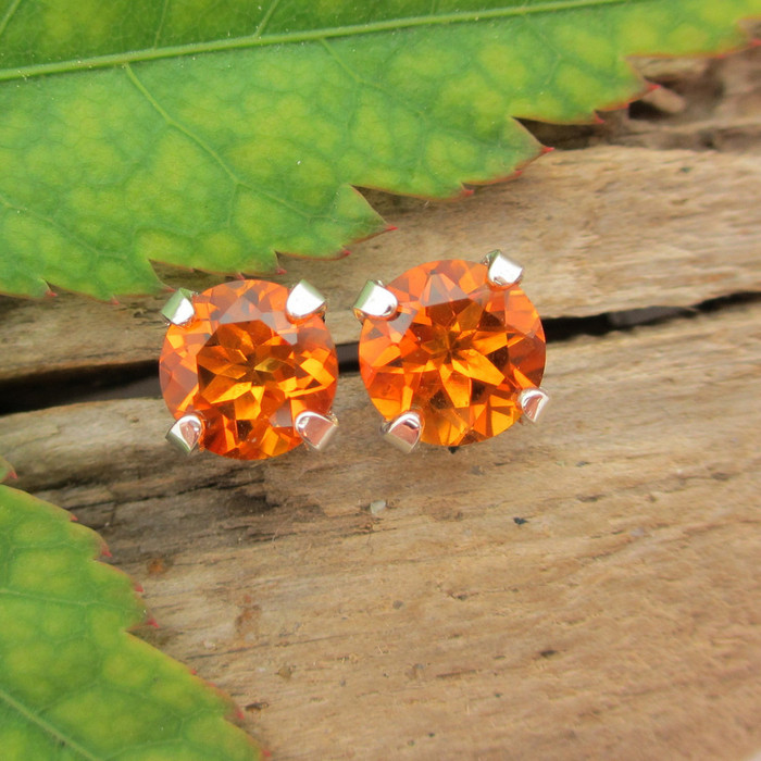 Citrine Stud Earrings, Madeira