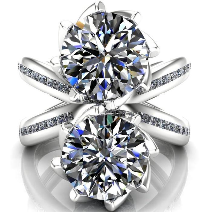 Quixote   Two Stone, 4ct Diamond Engagement Ring