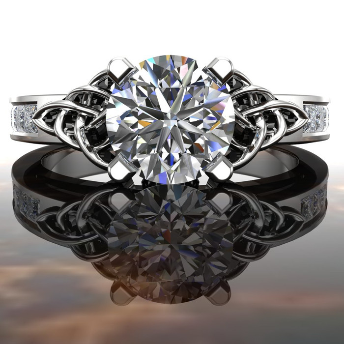 Arden | Celtic Knot Engagement Ring | Round 1 Carat Diamond