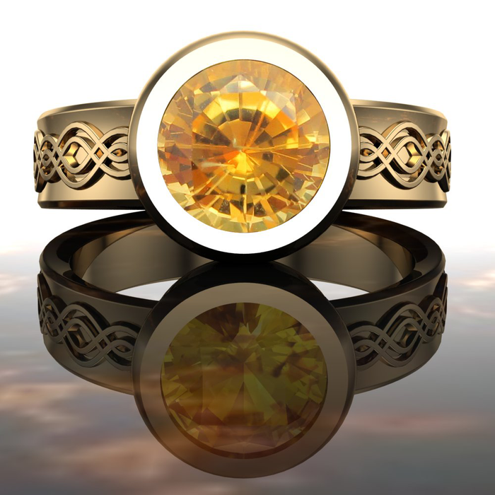 Yellow Montana Sapphire Engagement Ring