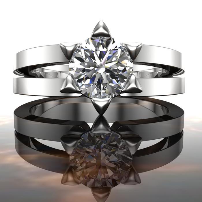 Star of David Engagement Ring | Round 3/4 Carat Diamond