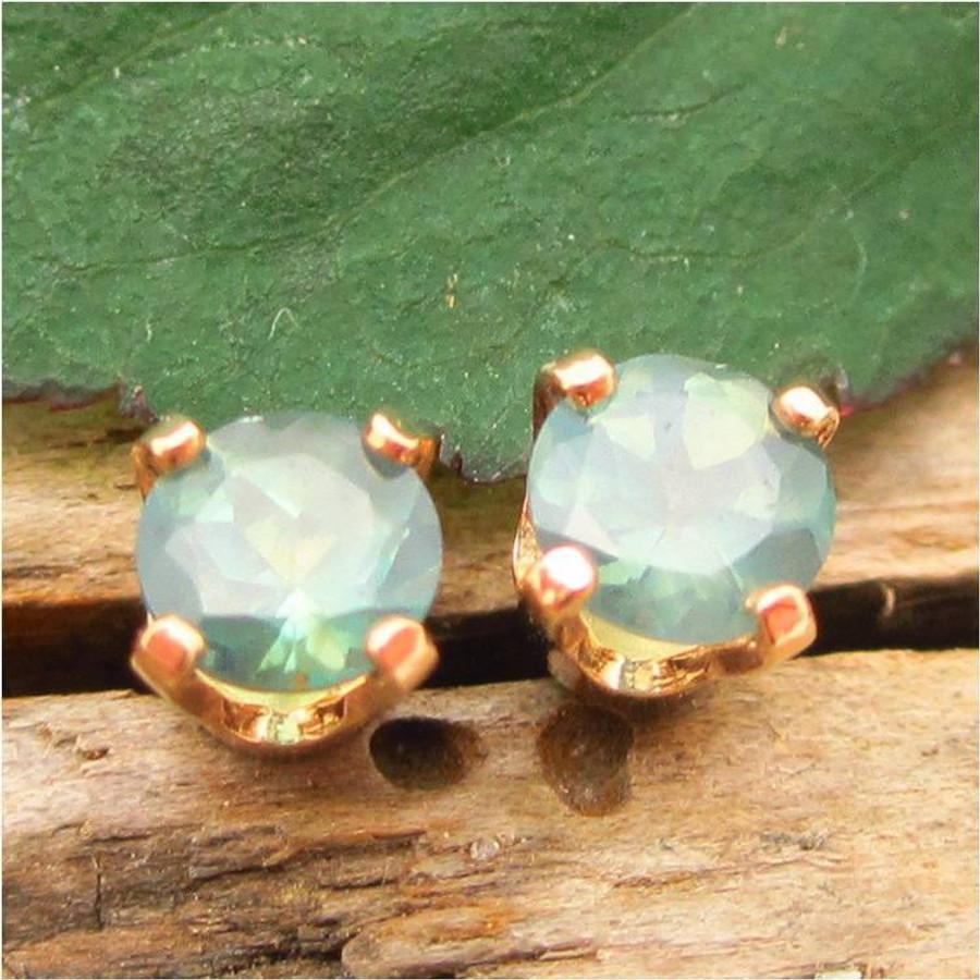 Natural Brazilian Alexandrite Stud Earrings, Limited Edition