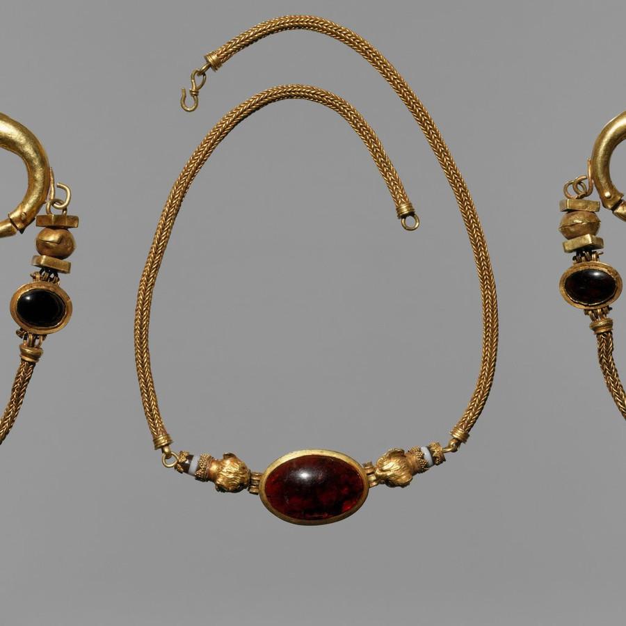 Red Garnet Cabochon Stud Earrings | Ruby Red