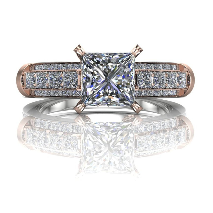 Bridges | 1 Carat Diamond Engagement Ring | Princess Cut