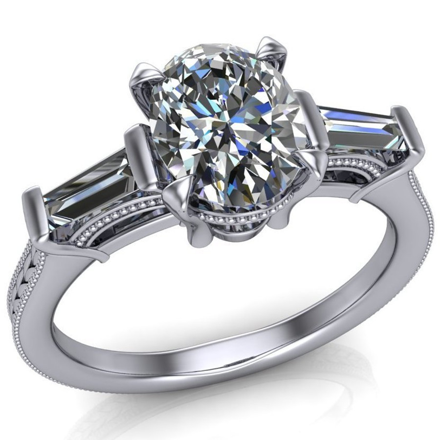 Modern Vintage Engagement Ring | Oval 1ct Diamond