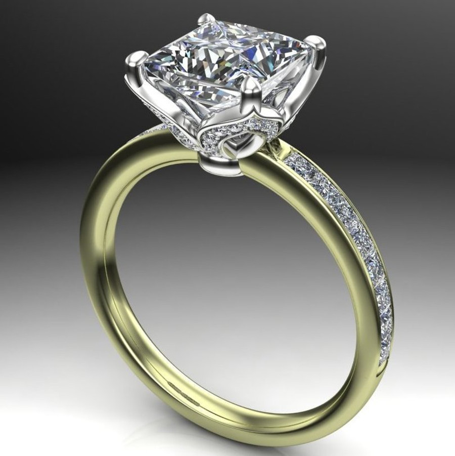 Fleur | Princess Cut 2 Carat Diamond Engagement Ring
