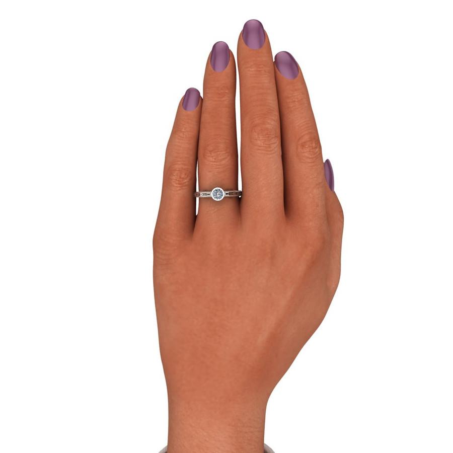 Filigree Bezel Engagement Ring | Round 1/3 Carat Diamond