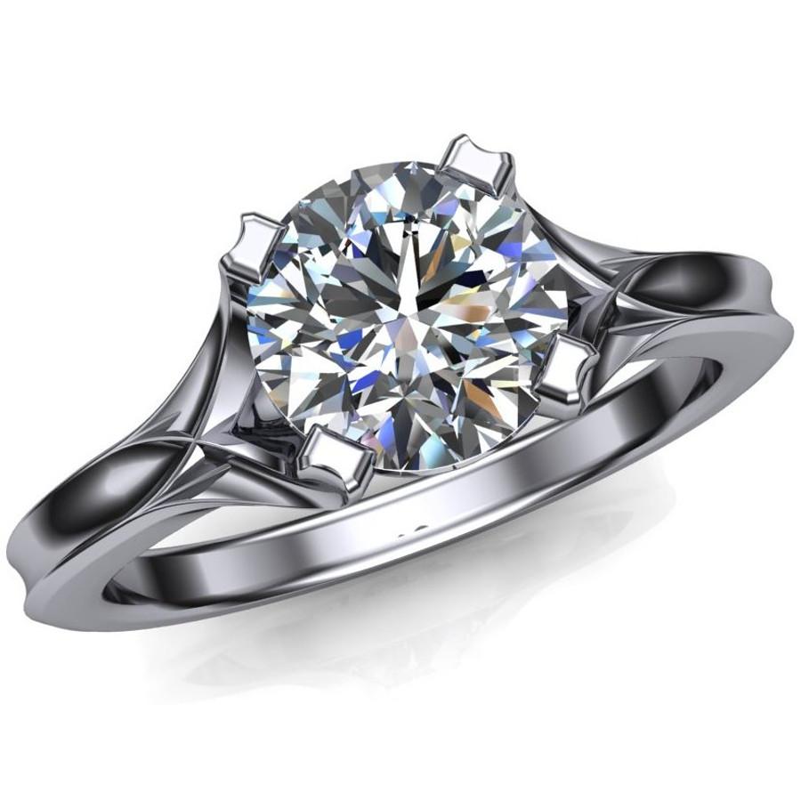 Geometric 1 carat diamond engagement ring