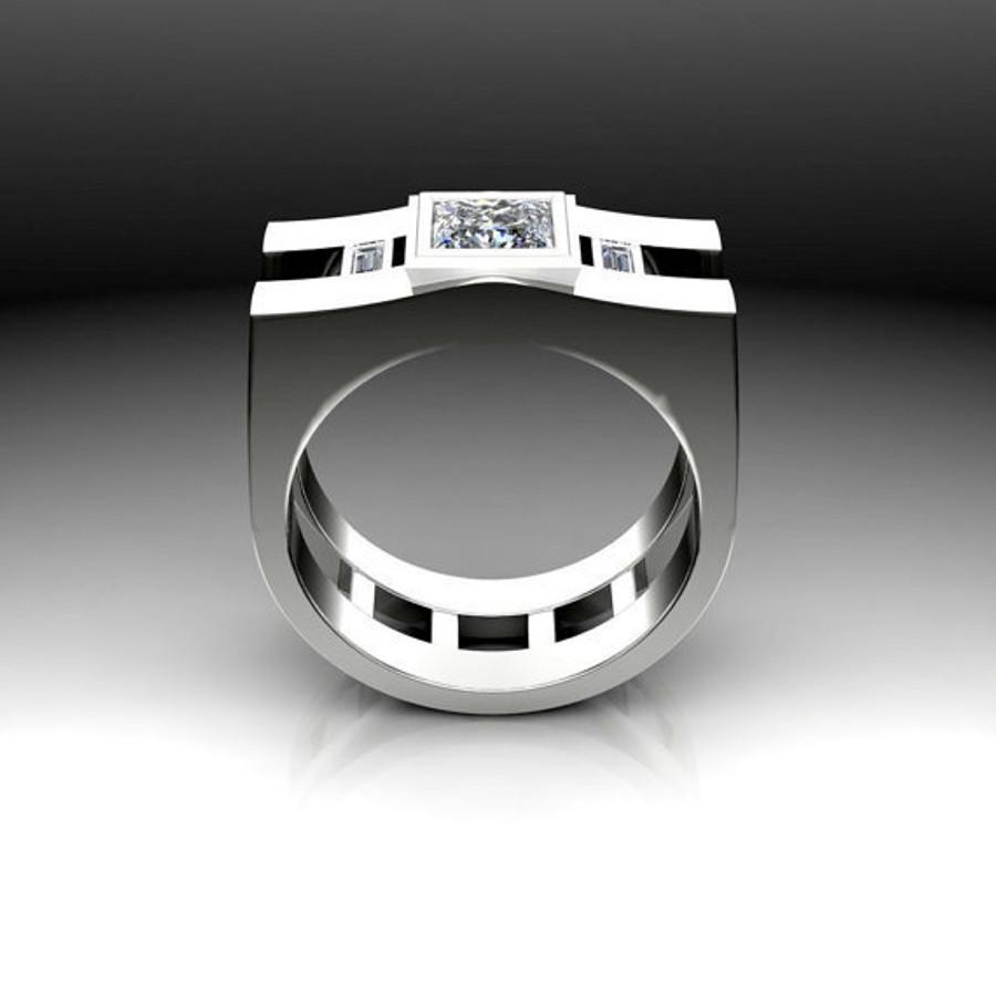 Agent | Men's Engagement Ring | Square 1 Carat Diamond