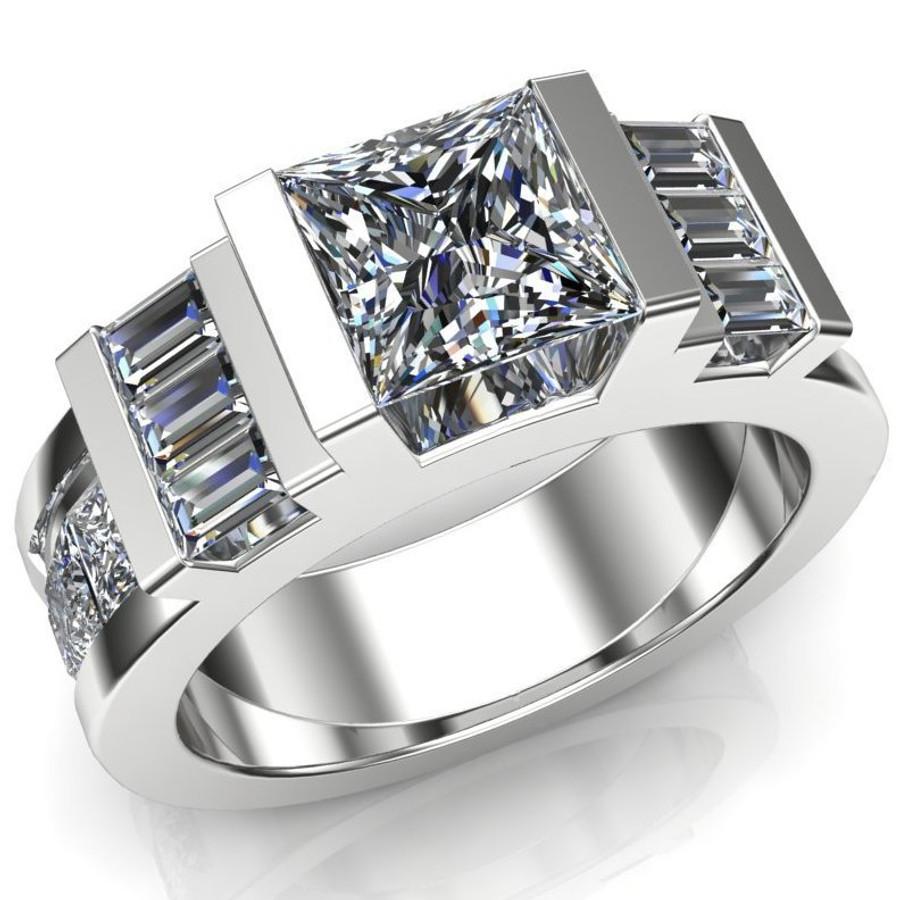 Unbroken Men's Engagement Ring | Square 1ct Diamond