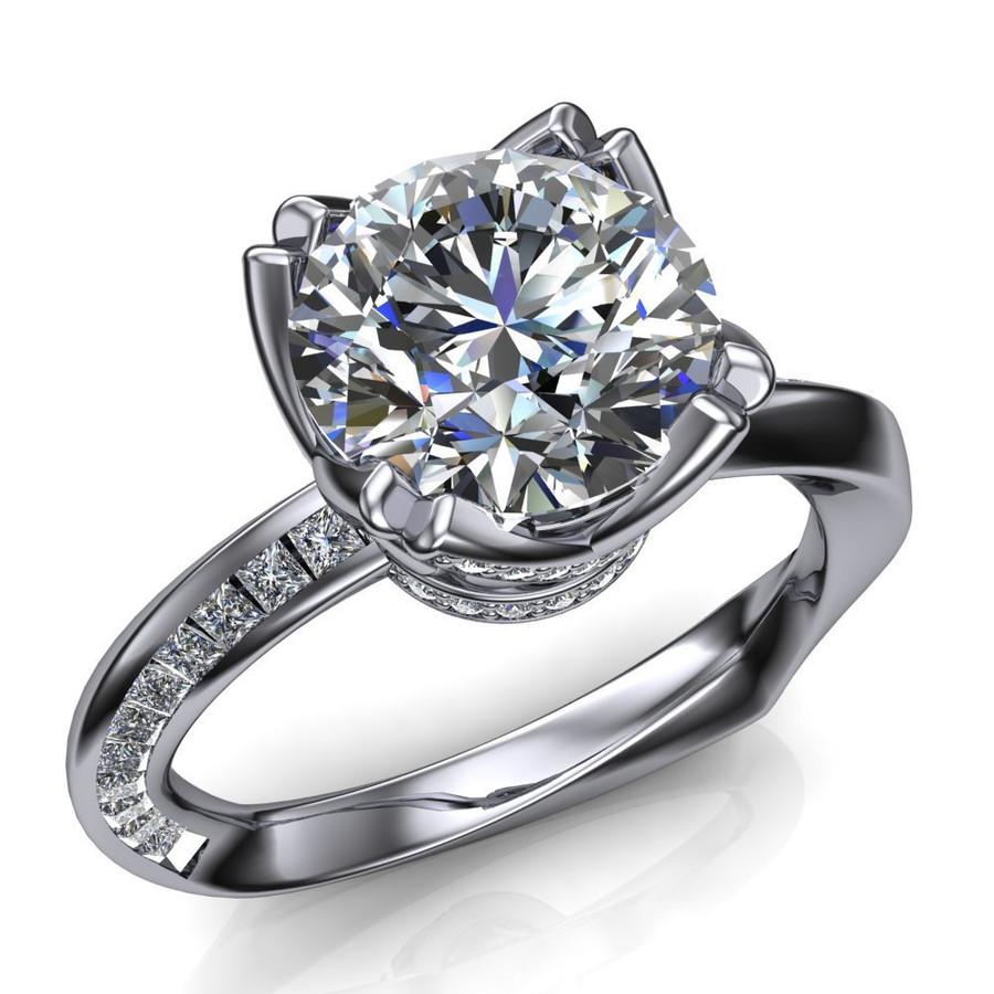 Mobius Twist & Sparkle Engagement Ring | Round 2ct Diamond