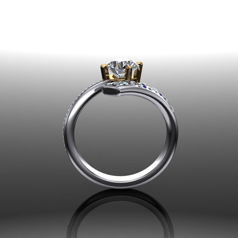 Halley | Shooting Star Comet Ring | Round 1 Carat Diamond