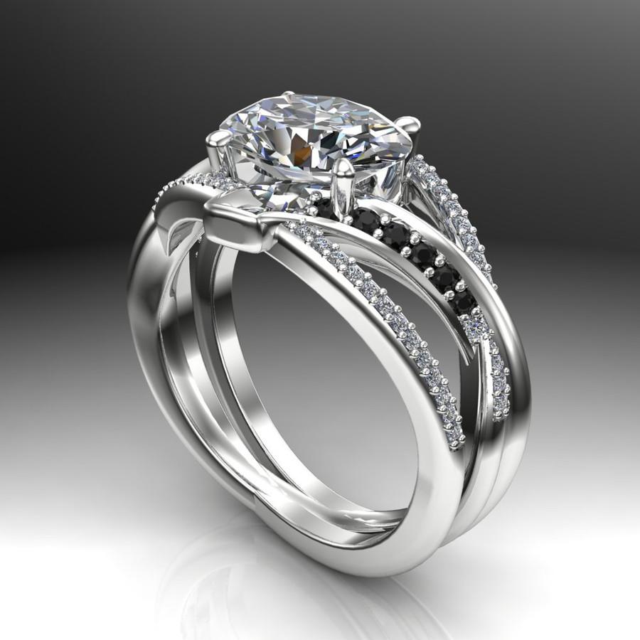 Oval Crisscross Custom Diamond Engagement Ring