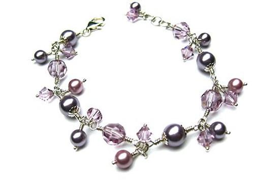 43d73a08a77ec5 Swarovski Crystals/Pearls Wrapped Bracelet - SMH Jewelry