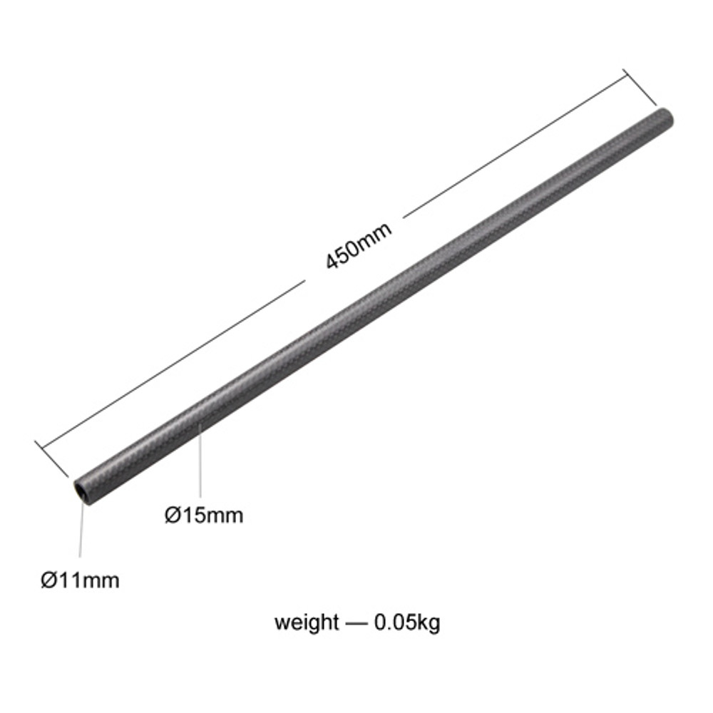 15mm Carbon Fiber Rod - 45cm 18inch (2pcs) 871