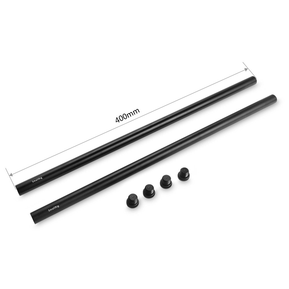 2pcs 15mm Black Aluminum Alloy Rod(M12-40cm) 16inch 1054