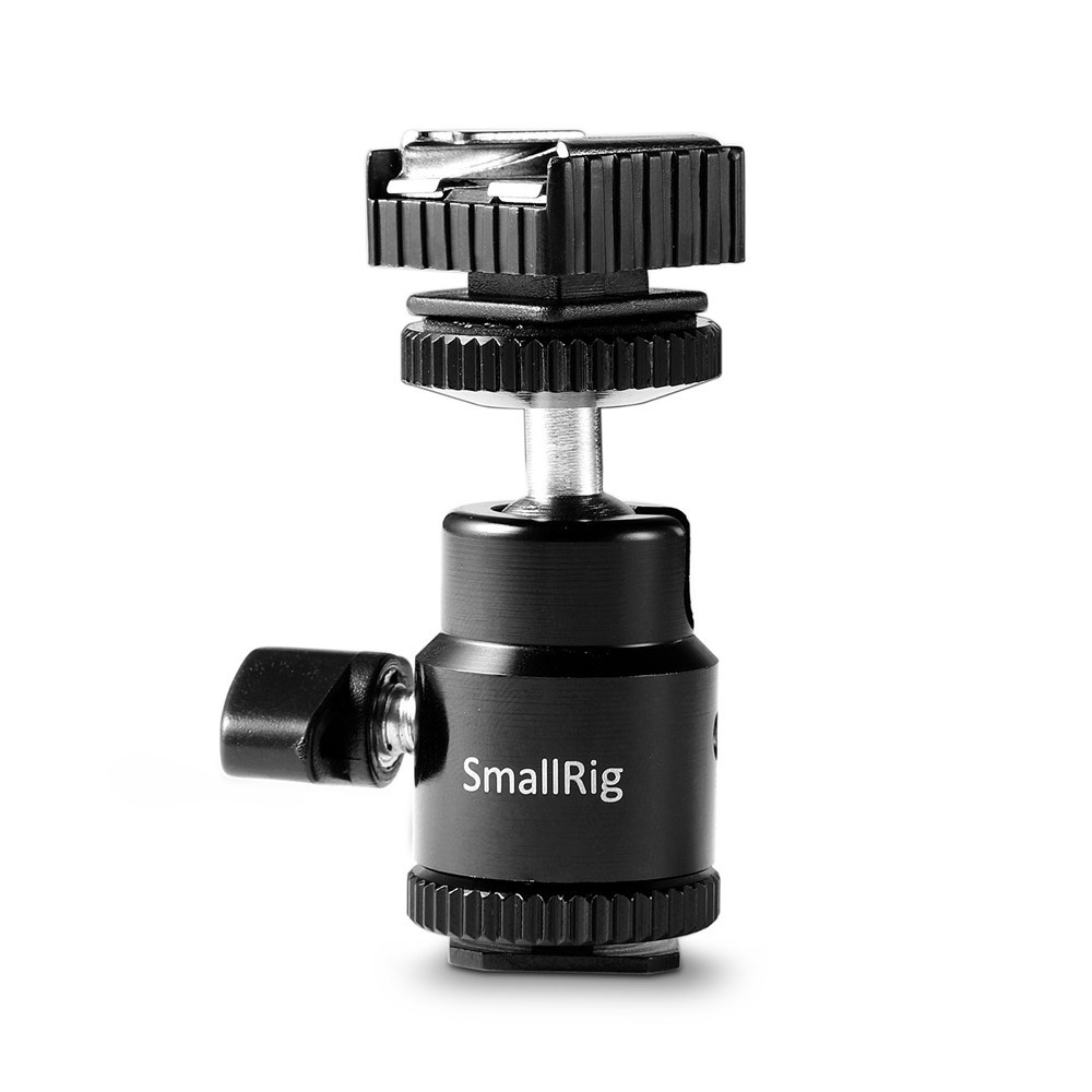 """SmallRig LCD Monitor Adapter with Hot Shoe and Cold Shoe Base with 1/4"""" Female Hole 1639"""
