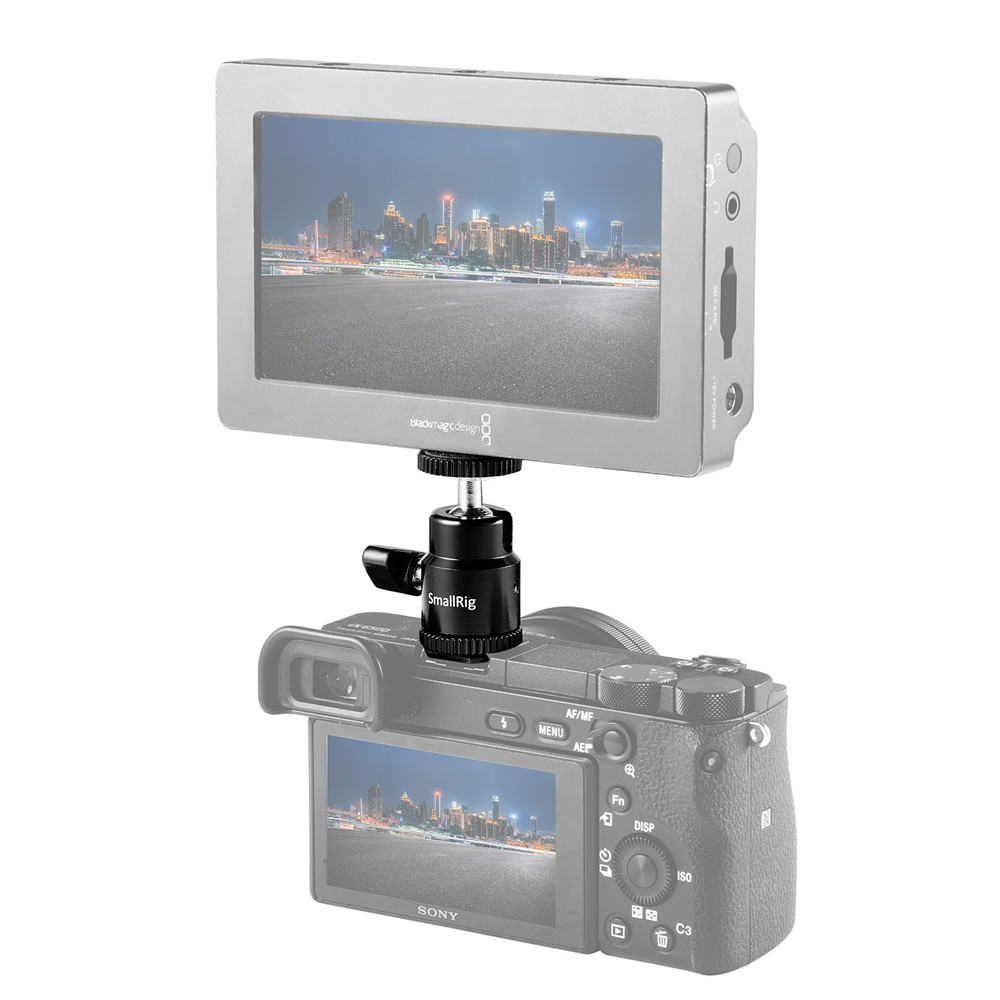 "SmallRig LCD Monitor Adapter with Hot Shoe and Cold Shoe Base with 1/4"" Female Hole 1639"