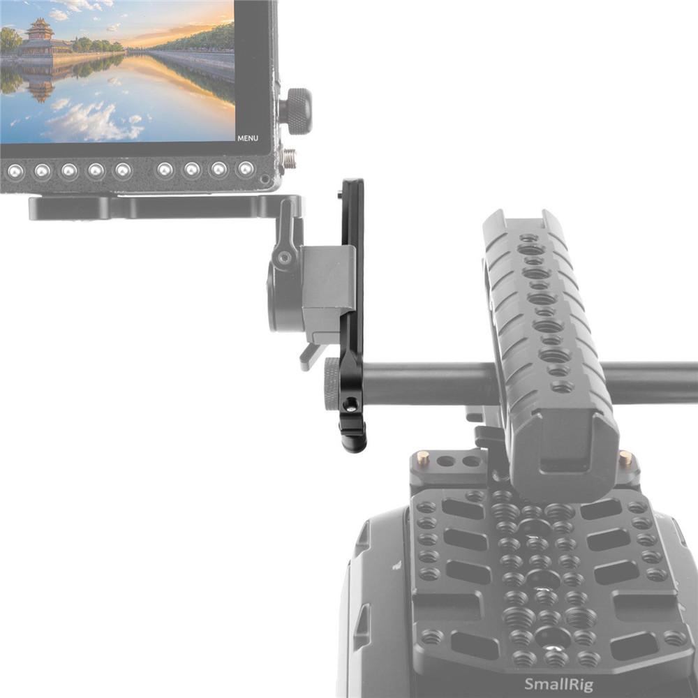 SmallRig Safety NATO Rail (4'') with 15mm Rod Clamp 1910