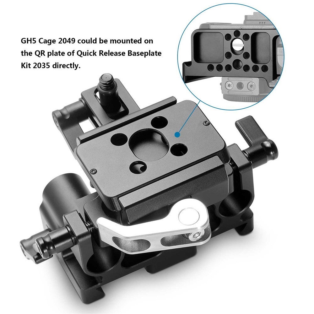 SmallRig Quick Release Baseplate Kit for Panasonic Lumix GH5 2035