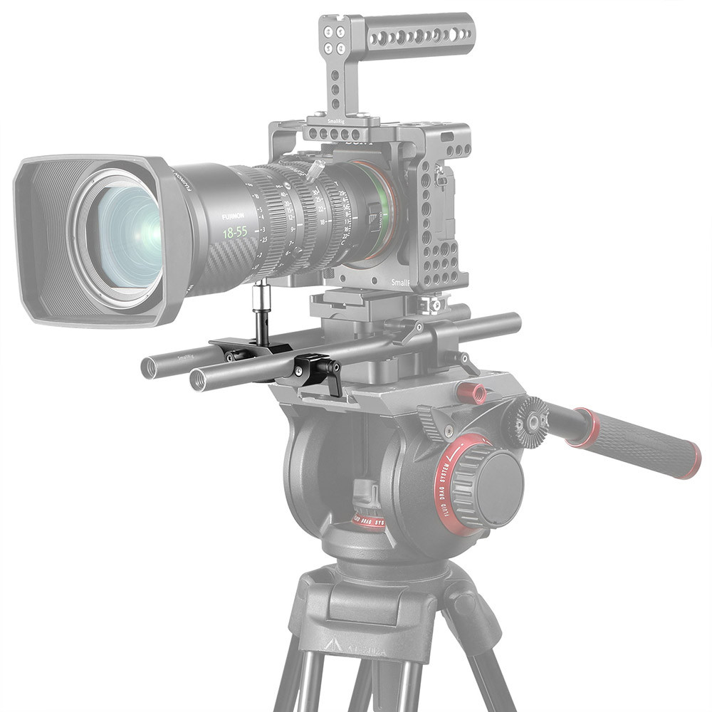 SmallRig 15mm LWS Lens Support for Fujinon MK18-55mm and MK50-135mm T2.9 Lens (Sony E-Mount)
