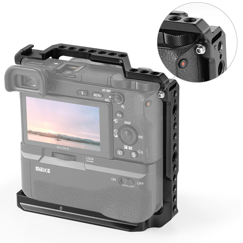 SmallRig Cage for Sony A6000/A6300/A6500 with Meike MK-A6300/A6500 Battery  Grip 2268 - SmallRig