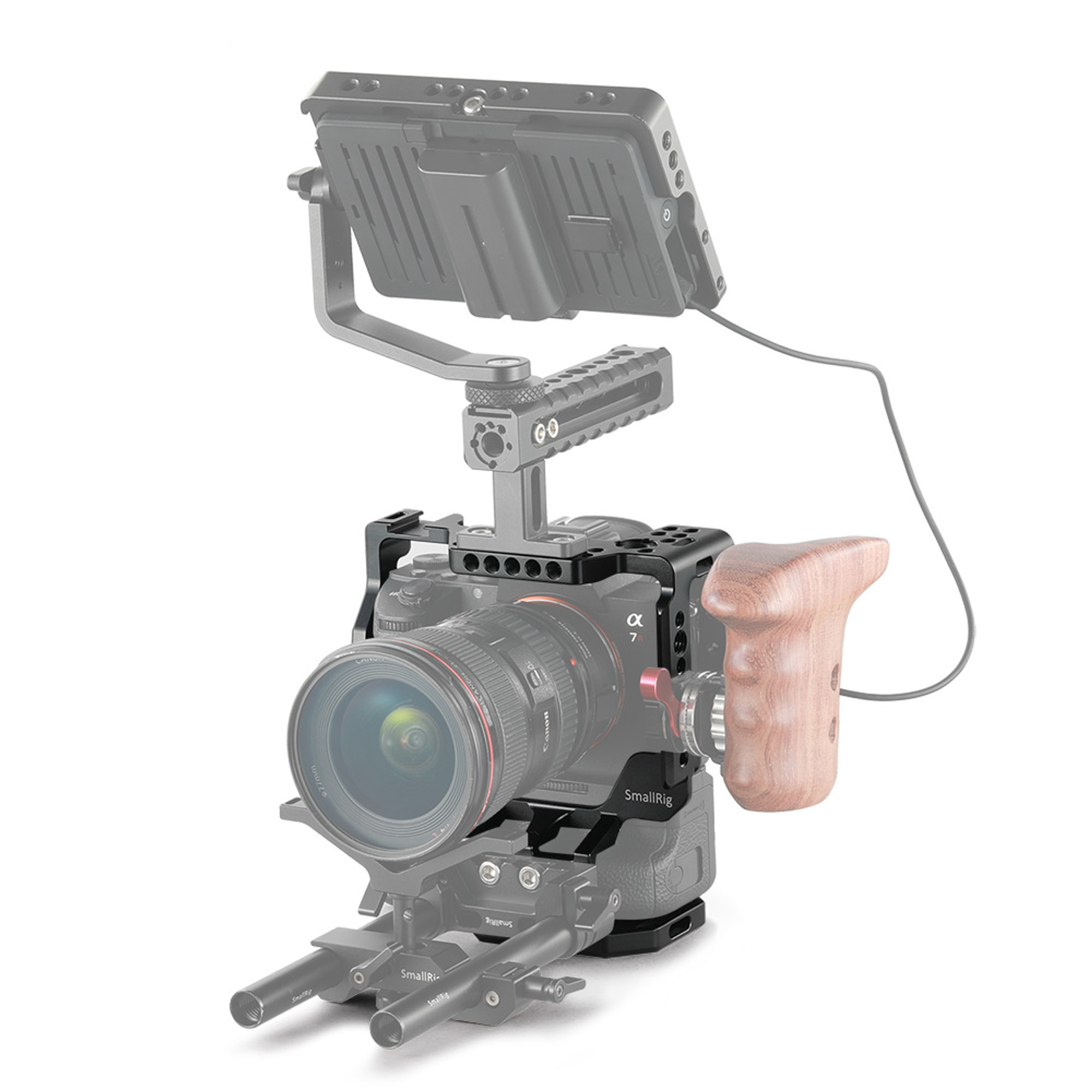 ... SmallRig Cage for Sony A7RIII/A7M3/A7III with VG-C3EM Vertical Grip 2176