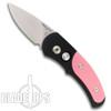 Pro-Tech J4 Cali-Legal Auto Knife, Pink Inlay Handle, Plain Edge Satin Blade