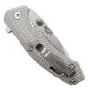 Bear Edge 61109 Silver Flipper Knife, Bead Blast Blade