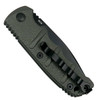 Boker Grey Mini Kalashnikov Auto Knife, AUS-8 Black Combo Blade