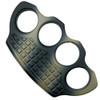 Marfione Custom Knives Four-Finger Tan Camo Hand Tank Paperweight, Titanium