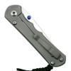 Chris Reeve LIN-1022 Large Inkosi Insingo Titanium Folder Knife, CPM-S35VN Stonewash Blade