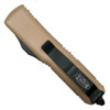 Microtech 233-1TA Tan Contoured UTX-85 T/E OTF Auto Knife, Black Blade
