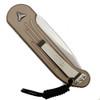Microtech 135-10TA Tan LUDT Auto Knife, Stonewash Blade