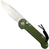 Microtech 135-11OD OD Green LUDT Auto Knife, Stonewash Combo Blade