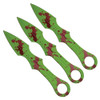 Z-Hunter ZB-090-3 Zombie Green 3-Piece Throwing Knife Set, Zombie Green Finish