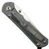 Chris Reeve LIN-1028 Large Inkosi Insingo Titanium Folder Knife, Black Canvas Micarta, CPM-S35VN Stonewash Blade