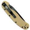 Ontario 8847DT Desert Tan RAT Model 1 Folder Knife, AUS-8 Black Combo Blade